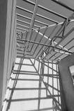De Zwarte en wit-09 van het staaldak Stock Fotografie