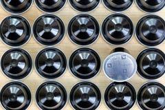 De zwarte enig-dient de capsules van Ristretto Nespresso Stock Afbeeldingen