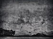 De zwarte Gebarsten concrete achtergrond van de textuurclose-up Royalty-vrije Stock Fotografie