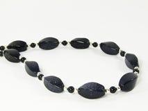 De zwarte halsband van de steenparel Royalty-vrije Stock Fotografie