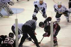 De Zwarte Haviken van NHL Chicago versus de Baai Ligtning van Tamper Stock Afbeeldingen