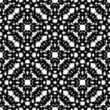 De zwarte & het wit herhalen siertextuur, zwart-wit naadloos patroon Royalty-vrije Stock Afbeelding