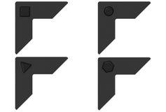 De zwarte Hoeken van de Foto vector illustratie