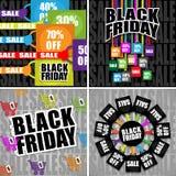 De zwarte Inzameling van de Verkoop van de Vrijdag Stock Afbeeldingen