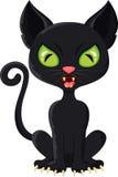 De zwarte kat van het beeldverhaal Stock Fotografie