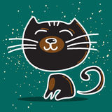 De zwarte kat van Nice Stock Afbeelding