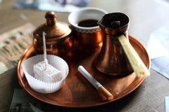 Zwarte bosnische koffie Royalty-vrije Stock Afbeeldingen