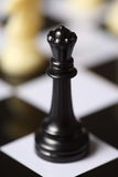 De Zwarte Koningin van het schaak Royalty-vrije Stock Fotografie