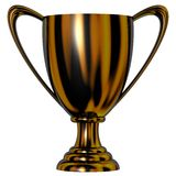 De zwarte Kop van de Trofee Vector Illustratie