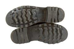 De zwarte laarzen van het Leger Stock Afbeeldingen