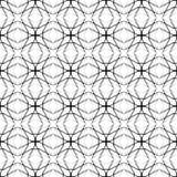 De zwarte naadloze illustratie van het lijnpatroon Royalty-vrije Stock Afbeelding