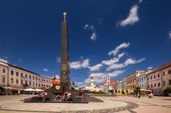De zwarte obelisk stock foto