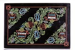 De zwarte ornated doos stock afbeeldingen
