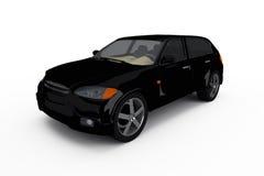 De zwarte oversteekplaatsauto Stock Foto's