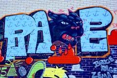 De zwarte panter van Montreal van de straatkunst Stock Afbeeldingen