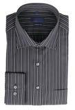 De zwarte pinstriped overhemd Stock Foto's