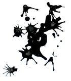 De zwarte ploetert Stock Afbeeldingen