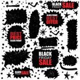 De zwarte reeks van de vrijdagverkoop Stock Afbeeldingen