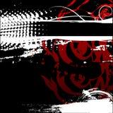 De zwarte rode achtergrond van de Grungehartstocht Royalty-vrije Stock Fotografie
