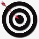 De zwarte Rode Pijl van Cirkels Royalty-vrije Illustratie