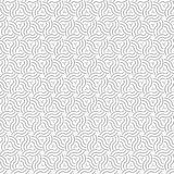 De zwarte Samenvatting trekt het Patroon van Ornamentgolven Naadloze Vectorillustratie Als achtergrond Royalty-vrije Stock Afbeelding