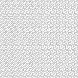 De zwarte Samenvatting trekt het Patroon van Ornamentgolven Naadloze Vectorillustratie Als achtergrond Royalty-vrije Stock Foto