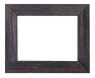 De zwarte schilderde vlakke houten omlijsting Royalty-vrije Stock Afbeeldingen
