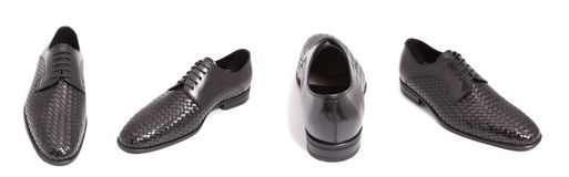 De zwarte schoen van leermensen royalty-vrije stock fotografie