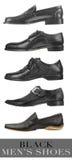 De zwarte schoenen van mensen Royalty-vrije Stock Afbeelding