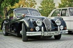De zwarte Schrijver uit de klassieke oudheid van de Jaguar XK120 Stock Fotografie