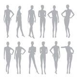 De zwarte silhouetteert de opslag van de modellenmanier Royalty-vrije Illustratie