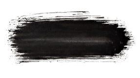 De zwarte slag van de verfborstel stock illustratie