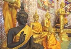De zwarte standbeelden van Boedha Royalty-vrije Stock Foto