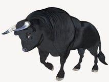 De zwarte Stier van het Beeldverhaal Royalty-vrije Stock Afbeelding