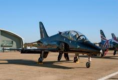 De zwarte straal van de Havik BAe op de vluchtsteeg Stock Foto