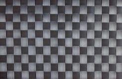 De zwarte textuur van de schaakbordstof Royalty-vrije Stock Foto