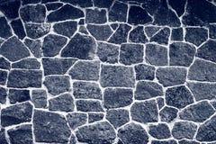 De zwarte textuur van de Steenmuur Stock Foto's