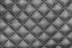 De zwarte Textuur van het Leer Stock Afbeeldingen