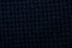 De zwarte textuur van het linnencanvas Royalty-vrije Stock Afbeeldingen