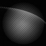 De zwarte Textuur van het Metaal Stock Illustratie