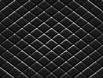De zwarte Textuur van het Metaalpatroon Stock Foto's