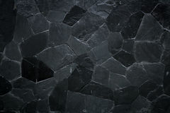 De zwarte textuur van het steenpatroon Royalty-vrije Stock Afbeeldingen