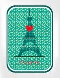 De zwarte toren van Eiffel Royalty-vrije Stock Foto's