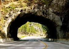 De zwarte tunnel van Heuvels Royalty-vrije Stock Fotografie