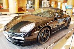 De zwarte uitgave van Porsche boxster stock afbeelding