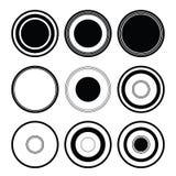De zwarte van de cirkel Royalty-vrije Stock Foto