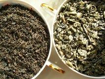 De zwarte van de thee _ & groen stock afbeeldingen