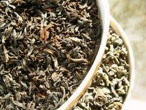 De zwarte van de thee _ & groen royalty-vrije stock foto