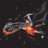 De zwarte van de vliegtuigneerstorting stock illustratie