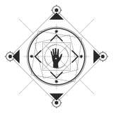 De Zwarte van het Hand Symmetrische Patroon Royalty-vrije Stock Afbeelding